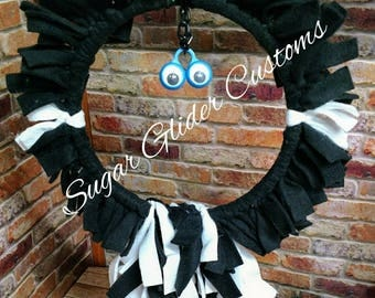 Sugar Glider Swing. Black and White, great for small climbing animals