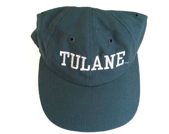 Vintage Tulane Hat - Baseball Cap - 1990s