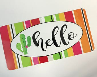 Welcome Sign - Cactus Hello Sign - Wreath Sign  - Wreath Attachment