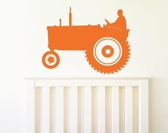 TRACTOR Wall Sticker, Removable Decal, Made In Australia
