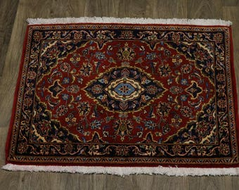 Lovely Classic Design Unusual Kashan Persian Rug Oriental Area Carpet 2'8X3'2
