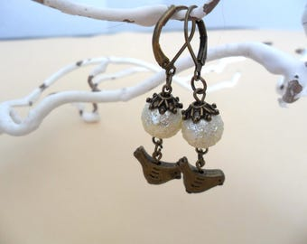 Earrings little bird / vintage