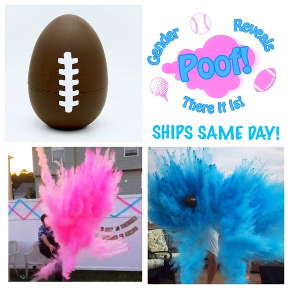 """8"""" FOOTBALL Gender Reveal Football with Glitter Gender Reveal Football Baseball Golf Ball"""