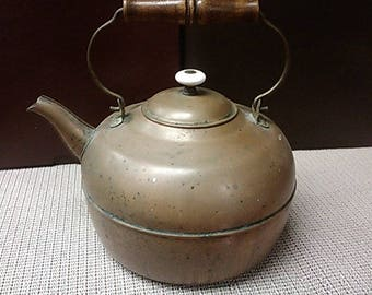 9 inch Tea Pot (cooper) from early to mid-1900s