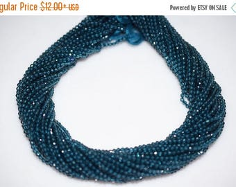 50% OFF AAA Quality Cutting London Blue Topaz Rondelle Beads 13 Inch Strand ,London BT Faceted Rondelle Beads , 2 mm - Mc058
