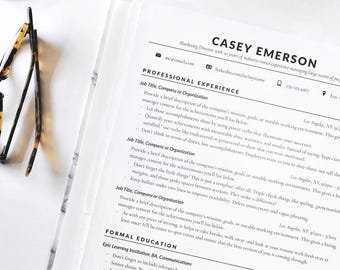 Buzzwords For Resumes Resume Template  Etsy Good Words To Use On A Resume with Nutritionist Resume Excel Resume Template Resume Cv Instant Download Resume Classic Professional  Resume For Word Recruiting Resume Excel
