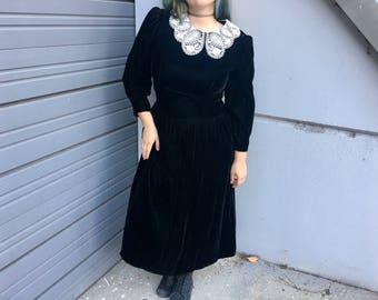 Vintage Velvet Witch Dress