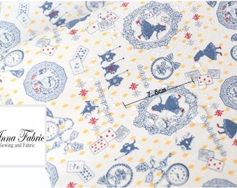 50cm | Waterproof Fabric | Linen | Blue | Alice