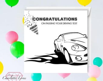 Congratulations You Passed Your Driving Test - Congratulations Car Card - Printable Card - Congratulations Card - Digital Download File