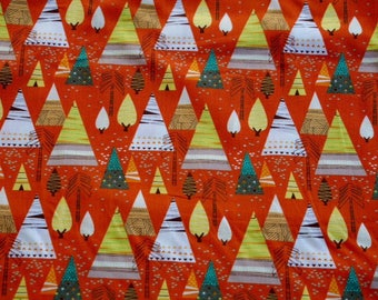 Native American Teepees on Orange background