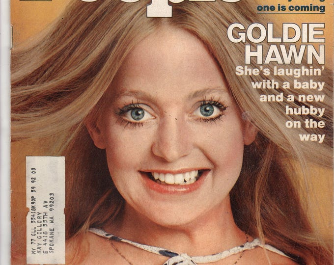 Goldie Hawn People Magazine May 17, 1976 with label