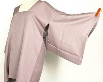 Japanese K012710 Bright Purple Michiyuki Kimono Jacket Vintage