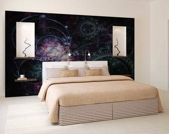 Wall Mural Abstract, Wall Mural Magic, Abstract Wallpaper, Magic Wall Decal