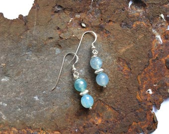 Agate Earrings with 925 silver elements