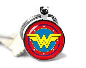 Wonder Woman Keyring Wonder Woman Keychain Wonder Woman Keyfob Superheroes Fandom Jewelry