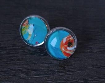 Water color earrings