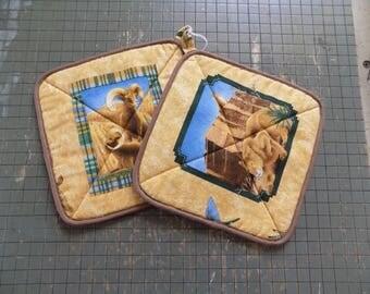 Desert Animal Hot Pads Set