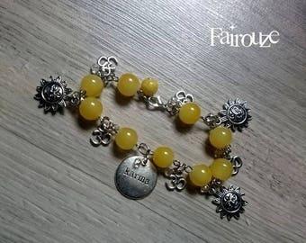 "Bracelet original mantra ""Sun Karma"" zen, stars, Sun, om, Buddhist, light"