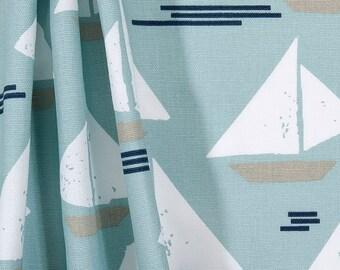 Light Blue Table Runner Sailboat Nautical Table Runner Kitchen Dining Room  Decor Linens Baby Boy Nursery