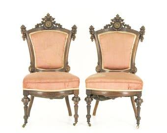 Victorian Parlour Chairs | John Jelliff | Walnut | B701