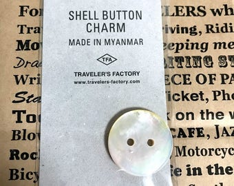 Traveler's Notebook Shell Button Limited Charm 07100499 Traveler's Factory Midori Designphil TF from Japan