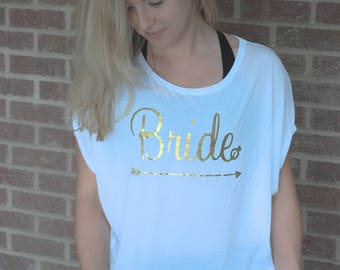 Bride scoop tee
