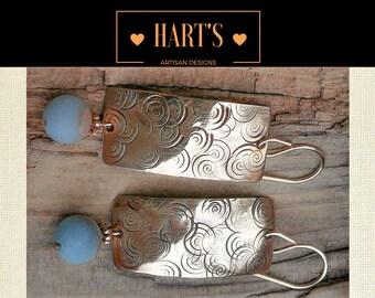 14K Gold Amazonite Gemstone Earrings