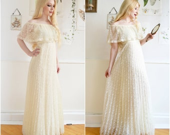"Vintage ""DAYDREAM"" - Maxi dress, wedding dress"