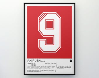 Ian Rush - #9 - Liverpool F.C. - Poster Print