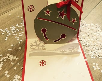 """Pop up theme """"enchantment"""" winter greeting card"""