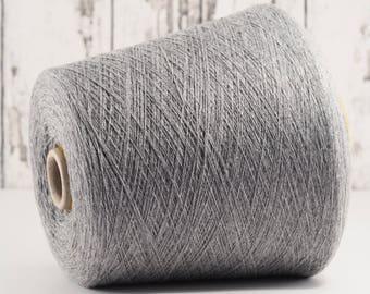 100% Baby cashmere yarn on cone, grey, cashmere on cone, per 100g: Y_WS_44