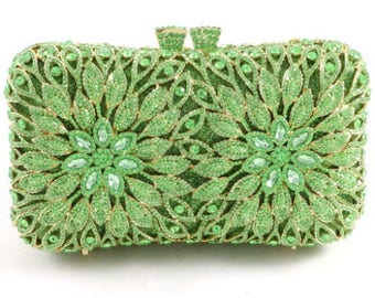 Hand Made Crystal Clutch Bag
