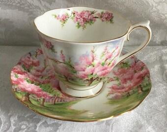 Vintage Royal Albert Blossom Time Teacup and Saucer