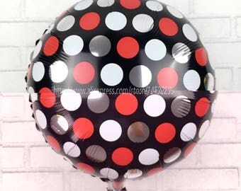 new (5 pieces / lot )18-inch aluminum foil balloons balloon round dot printing aluminum ball wholesale