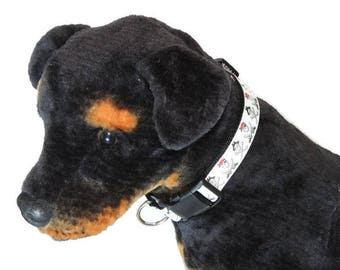 Large Jolly Roger Pirate Adjustable Dog Collar