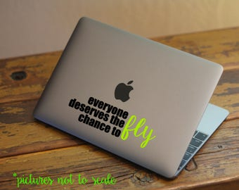 """FREE SHIPPING! - 6"""" Everyone Deserves a Chance to Fly inspired by Wicked Musical decal"""