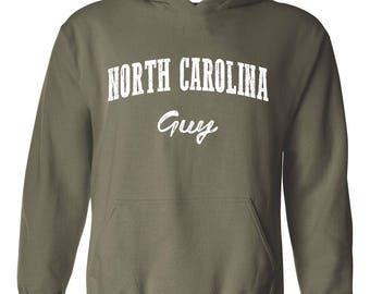 NC Guy North Carolina Flag Charlotte Map 49ers Home of University of NC UNC Unisex Hoodie Sweatshirt