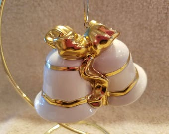 FREE SHIPPING, Mikasa Bell Christmas Ornament