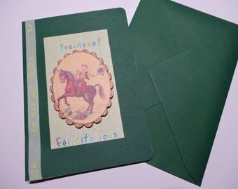 Congratulations card for birth babyboy / baby boy congratulations card