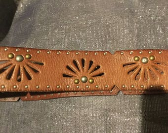 Linnet Pelle cognac studded belt