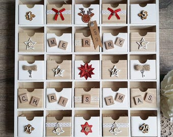 Wooden Advent Calender | Christmas Advent Calendar | Advent Calendar | Christmas Calendar