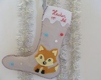 Customizable Mr Fox Christmas boot