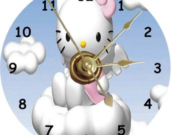 Hello Kitty cd clock can be personalised