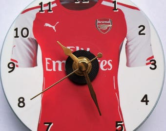Football clock with a Arsenal shirt on the clock face plus free stand