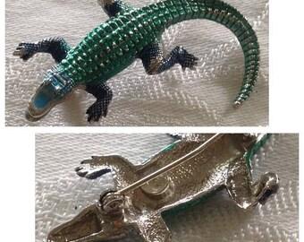 On Sale Vintage Alligator Pin