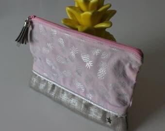 Dress handkerchief linen pineapple graphic