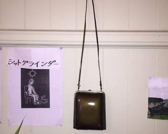 vintage green bag
