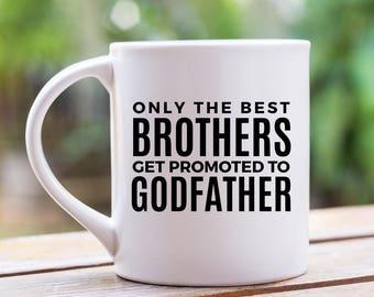 Godfather Gift, Godfather Mug, Pregnancy Announcement to Brother Gift, Pregnancy Reveal to Brother, Pregnancy Announcement, Uncle Mug 11 oz