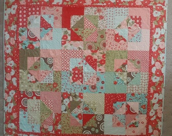 Colorful baby or lap quilt