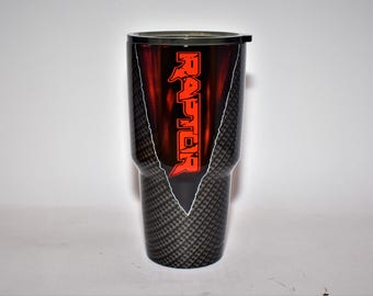 Custom Raptor Carbon Fiber Yeti Ford Raptor F150 Ozark Raptor tumbler Ford cup ford gifts for him ford f150 gifts Raptor cup Raptor gift